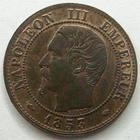 Photo numismatique  Monnaies Monnaies Françaises Second Empire 1 Centime NAPOLEON III, 1 centime tête nue 1853 MA Marseille, G.86 TTB+ R!