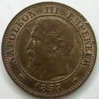Photo numismatique  Monnaies Monnaies Françaises Second Empire 2 Centimes NAPOLEON III, 2 centimes tête nue 1855 BB Strasbourg, tête de chien, G.31 TTB+/SUPERBE