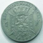 Photo numismatique  Monnaies Monnaies étrangères Belgique, Belgie, Belgien 1 Franc Belgique, Belgium, Belgien, 1 franc 1887, légende der Belgen, KM.29.1 TB+