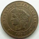 Photo numismatique  Monnaies Monnaies Françaises Troisième République 5 Centimes 5 Centimes Cérès 1896 A, Faisceau, G.157a SUPERBE