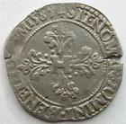 Photo numismatique  Monnaies Monnaies Royales Henri III Demi Franc au col plat HENRI III, Demi franc au col plat 1587 9 Rennes, DY.1131 TB+/TTB