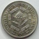 Photo numismatique  Monnaies Monnaies étrangères Afrique du sud, South Africa 6 Pences Afrique du sud, South Africa, 6 pences 1942, Georges VI, KM.27 TTB+