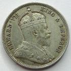 Photo numismatique  Monnaies Monnaies étrangères Afrique de l'est, East Africa, Uganda 50 Cents Afrique de l'est, East Africa, Edwards VII, 50 cents 1906, Uganda, KM.4 TTB