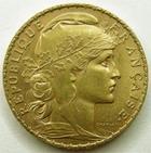 Photo numismatique  Monnaies Monnaies Française en or Troisième République 20 Francs or 20 Francs or Coq 1906, G.1064 TTB