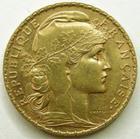 Photo numismatique  Monnaies Monnaies Française en or Troisième République 20 Francs or 20 francs or Coq 1905, G.1064 petit coup au revers, TTB