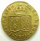 Photo numismatique  Monnaies Monnaies royales en or Louis XVI Louis d'or au buste nu LOUIS XVI, Louis d'or au buste nu 1786 A Paris, 7.63 grammes, DY.1707 SUPERBE