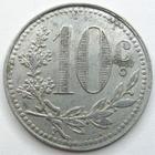 Photo numismatique  Monnaies Monnaies de nécéssité Algerie, Algeria 10 Centimes Algerie, Alger, chambre de commerce, 10 centimes 1921, E.10.16c TTB