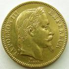 Photo numismatique  Monnaies Monnaies Française en or Second Empire 20 Francs or NAPOLEON III, 20 francs or lauré, 1866 BB Strasbourg, G.1062 TTB