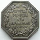 Photo numismatique  Monnaies Monnaies/medailles d'Alsace Colmar Jeton argent COLMAR, 1821, Conseil municipal, jeton octogonal en argent 30 mm, gravé par Oblin F., SUPERBE avec une belle patine!