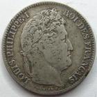 Photo numismatique  Monnaies Monnaies Françaises Louis Philippe 1 Franc LOUIS PHILIPPE I er, 1 franc 1832 MA Marseille, G.453 TB à TTB