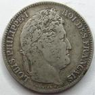Photo numismatique  Monnaies Monnaies Fran�aises Louis Philippe 1 Franc LOUIS PHILIPPE I er, 1 franc 1832 MA Marseille, G.453 TB � TTB