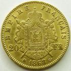 Photo numismatique  Monnaies Monnaies Française en or Second Empire 20 Francs or NAPOLEON III, 20 francs or lauré 1868 BB Strasbourg, TTB