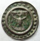 Photo numismatique  Monnaies Monnaies/medailles d'Alsace Colmar Rappen COLMAR, Rappen après 1425, aigle éployé de face, 0.30 gramme, coll.Wuthrich 76 V. TTB+ Flan large de 17/18 mm!