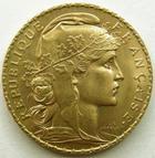 Photo numismatique  Monnaies Monnaies Française en or Troisième République 20 Francs or 20 francs or Coq 1910, Presque SUPERBE