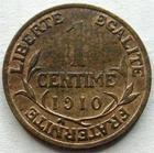 Photo numismatique  Monnaies Monnaies Françaises Troisième République 1 Centime 1 centime Dupuis 1910, G.90 TTB à SUPERBE Rare!