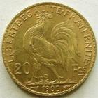 Photo numismatique  Monnaies Monnaies Française en or Troisième République 20 Francs or 20 francs or Coq 1905, G.1064 TTB+