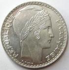 Photo numismatique  Monnaies Monnaies Françaises Troisième République 20 Francs 20 francs Turin 1933 Rameaux long, G.852 SUPERBE