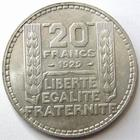 Photo numismatique  Monnaies Monnaies Fran�aises Troisi�me R�publique 20 Francs 20 francs Turin 1929, G.852 Presque SUPERBE