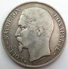 Photo numismatique  Monnaies Monnaies Françaises Deuxième République 5 Francs LOUIS NAPOLEON BONAPARTE, 5 francs 1852 A Paris, G.726 TB+