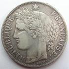 Photo numismatique  Monnaies Monnaies Françaises Défense nationale 5 Francs Défense Nationale, 5 francs Cérès 1870 K Bordeaux, E.A OUDINE *+, G.742 TB+