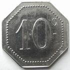 Photo numismatique  Monnaies Monnaies de nécéssité Remiremont 10 Centimes REMIREMONT, à la croix de Lorraine, A.Demesy, 10 centimes, Elie manque SUPERBE