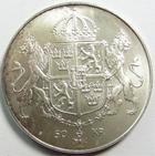 Photo numismatique  Monnaies Monnaies étrangères Suède, Sverige, Sweden 50 Kroner, 50 Kronor, 50 Couronnes SUEDE, SVERIGE, 50 Kroner, 50 couronnes 1976, Charles XVI et Gustave, KM.854 SUPERBE à FDC