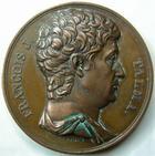 Photo numismatique  Monnaies Médailles Comedien, Comedie, Theatre, Cinema Médaille bronze François J. TALMA, 1763.1826, Comédien, médaille en bronze 42 mm, gravé par Gaunois F., TTB+