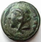 Photo numismatique  Monnaies R�publique Romaine Aes Graves, 225.217 avant Jc Quadrans AES GRAVES, 225.217 avant Jc, Quadrans, t�te d'Hercule, proue de navire, 62.93 grms, Craw.35/4 TTB