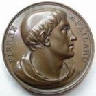 Photo numismatique  Monnaies Médailles Galerie metallique des grands hommes Français Médaille en cuivre Pierre ABAILARD, Né en 1079 mort en 1142, médaille en cuivre 1817, 40 mm, gravé par Gayrard F., TTB+