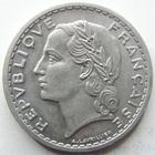 Photo numismatique  Monnaies Monnaies Françaises Gouvernement Provisoire 5 Francs 5 francs Lavrillier aluminium, 1945, G.766 SUPERBE