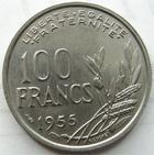 Photo numismatique  Monnaies Monnaies Françaises 4ème république 100 Francs 100 francs Cochet 1955, G.897 SUPERBE