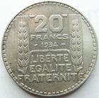 Photo numismatique  Monnaies Monnaies Françaises Troisième République 20 Francs 20 francs Turin 1934, G.852 TTB+