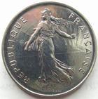 Photo numismatique  Monnaies Monnaies Françaises Cinquième république 5 Francs 5 francs semeuse 1984, G.771 FDC (uniquement serie FDC)
