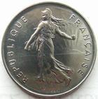 Photo numismatique  Monnaies Monnaies Françaises Cinquième république 5 Francs 5 francs semeuse 1985, G.771 FDC (uniquement serie FDC)