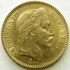 Photo numismatique  Monnaies Monnaies Française en or Second Empire 20 Francs or NAPOLEON III, 20 francs or lauré 1864 A, G.1062 TTB
