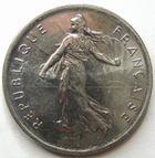 Photo numismatique  Monnaies Monnaies Françaises Cinquième république 5 Francs 5 francs semeuse 1996, G.771 SUPERBE à FDC