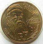 Photo numismatique  Monnaies Monnaies Françaises Cinquième république 10 Francs 10 francs François Rude 1984 tranche B, G.818 issue d'une boite FDC sous plastique