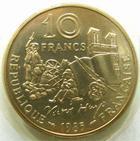 Photo numismatique  Monnaies Monnaies Françaises Cinquième république 10 Francs 10 francs Victor Hugo 1985, tranche A, G.819 issue d'une boite FDC sous plastique