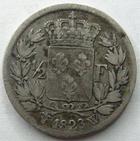 Photo numismatique  Monnaies Monnaies Fran�aises Louis XVIII 1/2 Franc LOUIS XVIII, demi franc, 1/2 franc 1823 W Lille, G.401 TB+