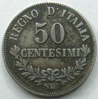 Photo numismatique  Monnaies Monnaies étrangères Italie, italia, Naples, Napoli 50 centesimi Italie, Italia, 50 centesimi 1863 NBN Napples, Vittorio Emanuele II, GIG.77 / KM.14.2 TTB
