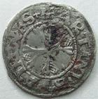 Photo numismatique  Monnaies Monnaies/medailles d'Alsace Colmar Vierer Colmar, vierer 16 em siècle, O.81 grammes, EL.35 Variante TB+ Flan large!