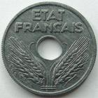 Photo numismatique  Monnaies Monnaies Françaises Etat Français 10 Centimes 10 centimes zinc 1941, G.290 presque SUPERBE
