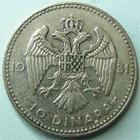 Photo numismatique  Monnaies Monnaies étrangères Yougoslavie, Jugoslavia, Jugoslavien 10 Dinara YOUGOSLAVIE, JUGOSLAVIEN, 10 Dinaras 1931, Alexandre I er, KM.10 TTB