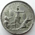 Photo numismatique  Monnaies M�dailles Louis XIV M�daille M�daille en �tain LOUIS XIV, M�daille en �tain 40 mm, 30 Septembre 1681, Argentoratum et Casale Recept, grav� par Mauger, TTB