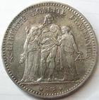 Photo numismatique  Monnaies Monnaies Françaises Troisième République 5 Francs 5 francs Hercule 1876 A Paris, G.745a TTB