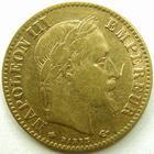 Photo numismatique  Monnaies Monnaies Française en or Second Empire 10 Francs or NAPOLEON III, 10 francs or lauré 1867 A Paris, G.1015 TTB