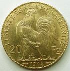Photo numismatique  Monnaies Monnaies Française en or Troisième République 20 Francs or 20 francs or Coq 1914, G.1064a SUPERBE