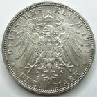 Photo numismatique  Monnaies Allemagne après 1871 Allemagne, Deutschland, Bayern, Baviere 3 Mark, Drei mark BAYERN, BAVIERE, Drei mark, 3 mark 1911 D, Luitpold, J.49 SUPERBE