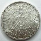 Photo numismatique  Monnaies Allemagne après 1871 Allemagne, Deutschland, Baden, Bade 2 mark, Zwei mark BADEN, BADE, zwei mark, 2 mark 1906, Friedrich et Luise, J.34 petites traces sinon SUPERBE