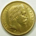 Photo numismatique  Monnaies Monnaies Française en or Second Empire 20 Francs or NAPOLEON III, 20 francs or lauré 1863 BB Strasbourg, G.1062 TTB+
